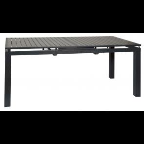 Havebord  med udtræk  100 x 200/250  Antracit sort - (443660)