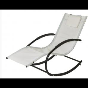 Sandfarvet gynge-solvogn med nakkepude  (444507))