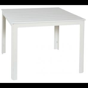 Hvidt havebord 100 x 100  (510134)