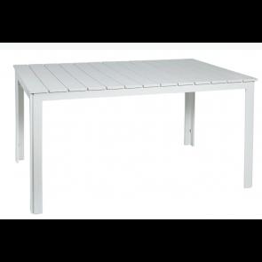 Hvidt havebord 100 x 150 (510137)