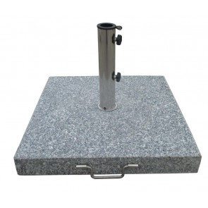Parasolfod. Firkantet grå. 60 kg  (404722)