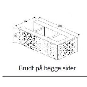 BB-Mur 15 Hjørnesten Grå