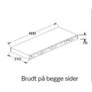 BB-Mur Topplade Grå