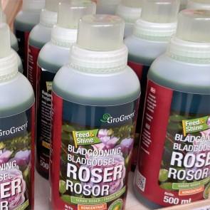 Refill til GroGreen bladgødning til roser - 500 ml Koncentrat.