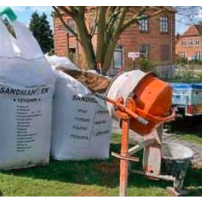 Cement 200 kg i Storsæk. LEVERES KUN JYLLAND/FYN