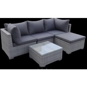 Sofa med chaiselong. Grå (200060)