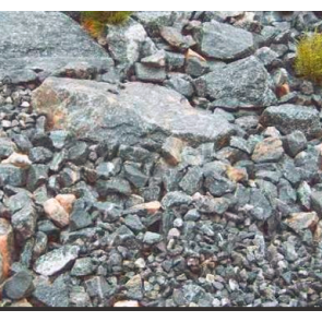 Granitmiljø Grå Stockholm 1 ton i Storsæk. - LEVERING JYLLAND/FYN