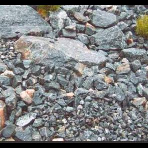 Granitmiljø Grå Stockholm 1 ton i Storsæk. - LEVERING PÅ SJÆLLAND