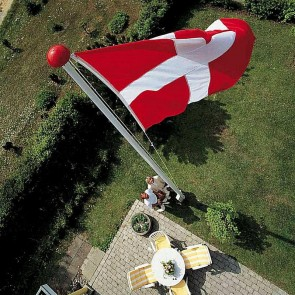 Glasfiberflagstang 7 m. Standard - 7 meter.