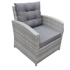 2 Lænestole med hynde. 4 line Tonet grå  (200041)