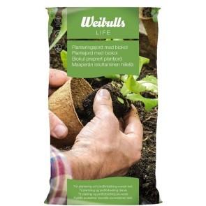 Weibulls plantejord med biokul 40 L - -