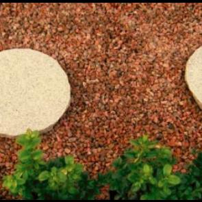 Rød Øland granitskærver 8/11 1 ton i Storsæk. - LEVERING JYLLAND/FYN
