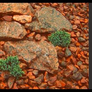 Rød Øland granitskærver 30/60 1 ton i Storsæk. - LEVERING PÅ SJÆLLAND
