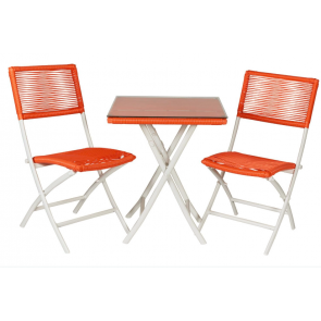Cafesæt - bord og 2 klapstole -  Retro ( 2 stk 443055 + 442045)
