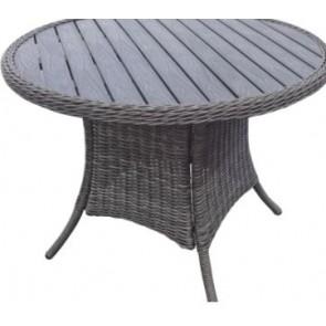 Sofia sæt: Rundt havebord - Diameter 100 cm + 4 lænestole med hynde.  (200015 + 4 stk 200000)