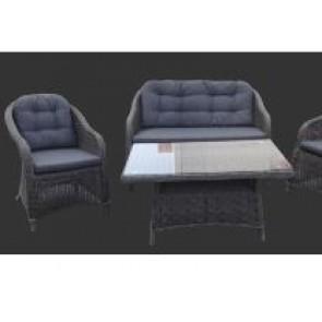 Sofia sofasæt med 2.pers sofa, 2 stole og et bord (200018)