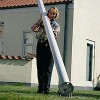 Glasfiberflagstang  6 m. med vippebeslag - 6 meter.