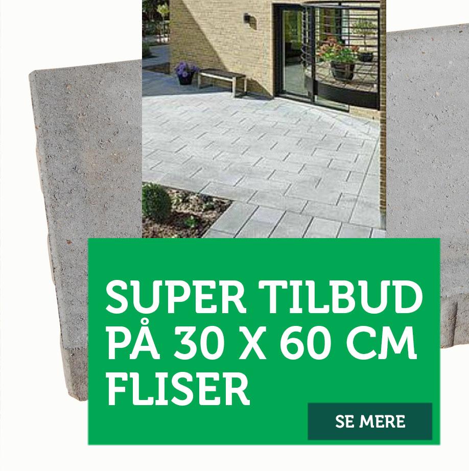 Super tilbud på 30 x 60 fliser